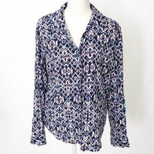 💥 Splendid Geometric Button Down Blouse